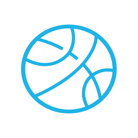 Basketball graphic icon
